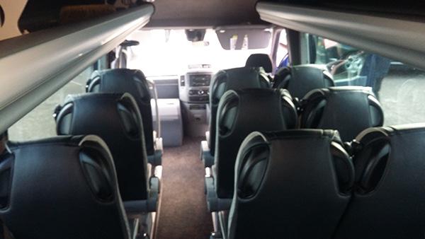 19 seater interior